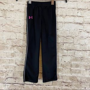 Girls under armour black pink pants size 5